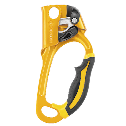Petzl Ascension rope clamp, right handed version