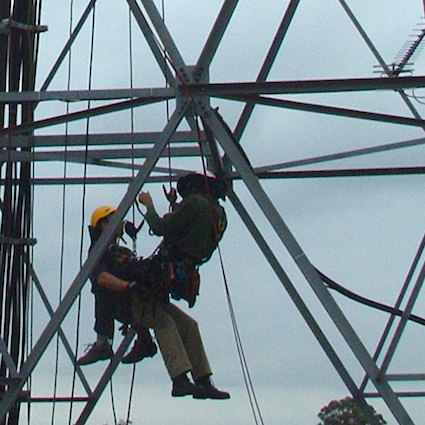 Tower rescue training