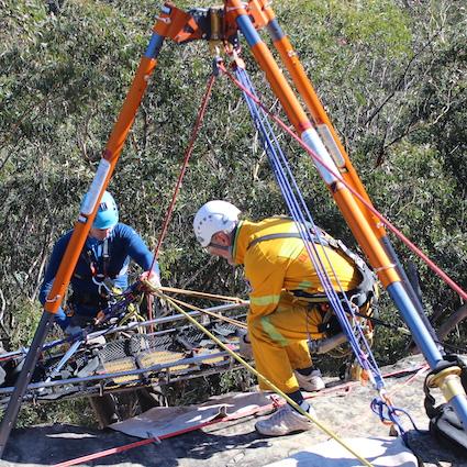 Vertical Rescue, team work.