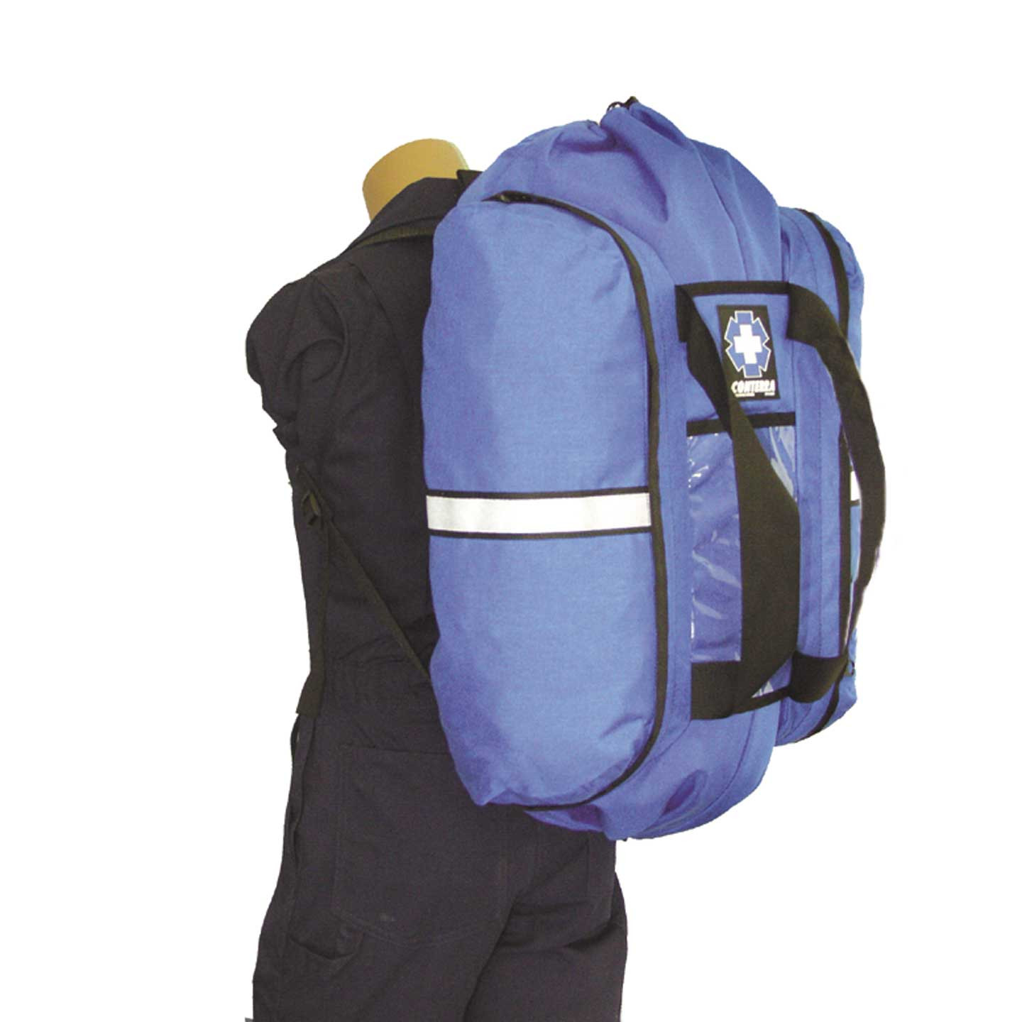 Conterra Rigging Bag worn as a backpack.