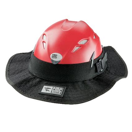 CMC Sunbrero, black adjustable sunshade - front view