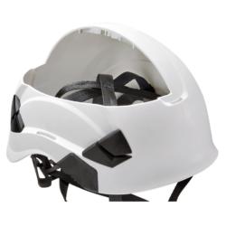 Vertex helmet webbing suspension system