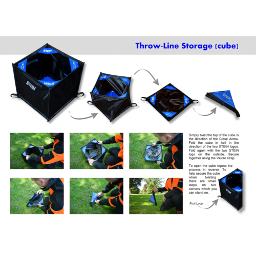 Stein Folding Throwline Cube Instructions